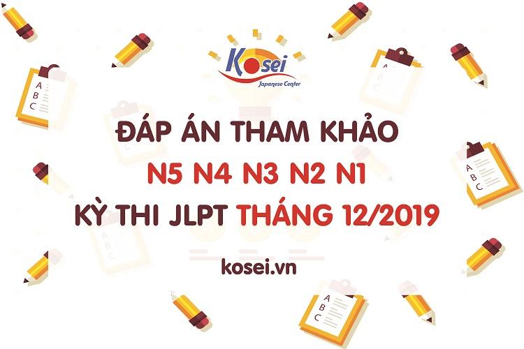 đáp án kỳ thi jlpt tháng 12/2019