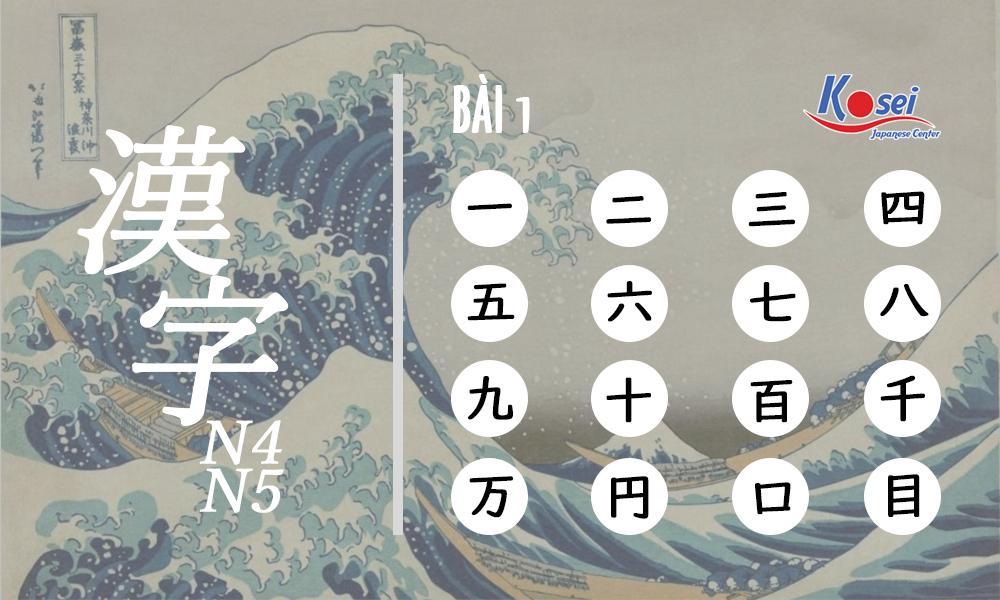 Kanji N4-5: 16 Hán tự Bài 1