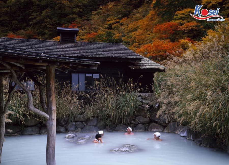 Mách bạn top 4 suối nước nóng ở Nhật đẹp như tiên cảnh