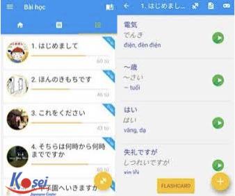 Các app học tiếng Nhật hữu ích (Phần 1)