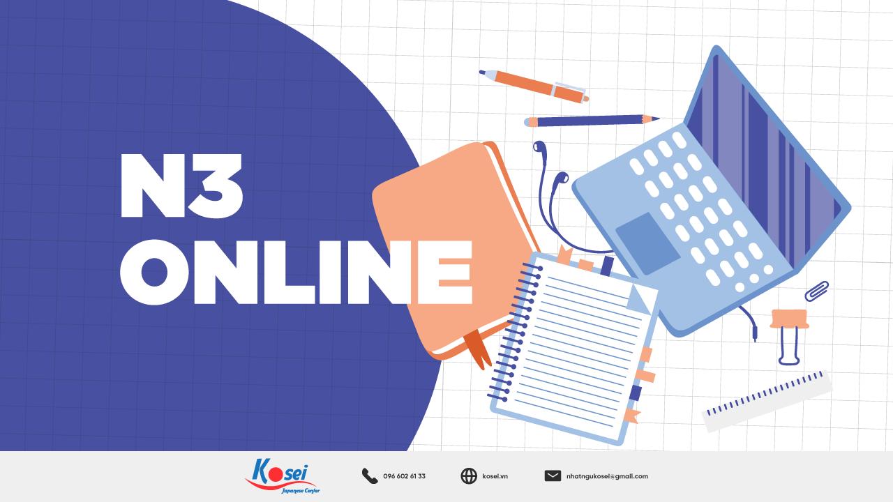 Khoá học tiếng Nhật N3 Online