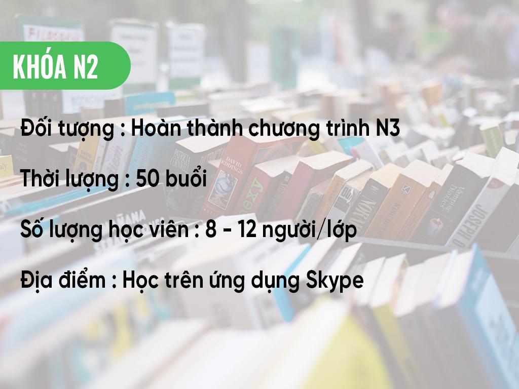 Thông tin khóa học N2 online qua Skype