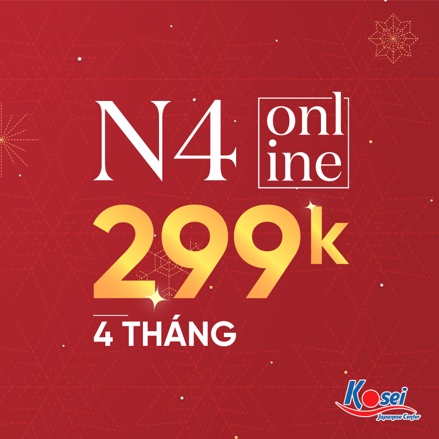 học phí n3 n4 online mừng giáng sinh 2020