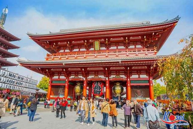 Chùa Asakusa Nhật Bản - Một trong những ngôi chùa cổ nhất Tokyo