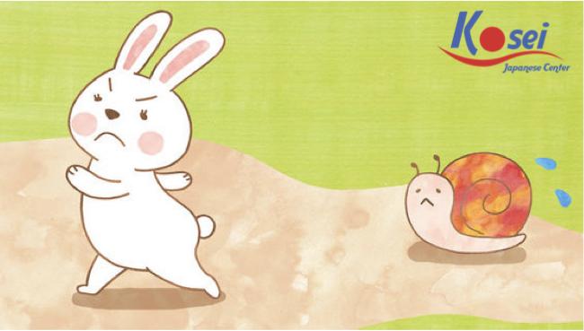 Học tiếng Nhật qua chuyện cổ tích:うさぎさんとかたつむりくん (Thỏ và Sên)