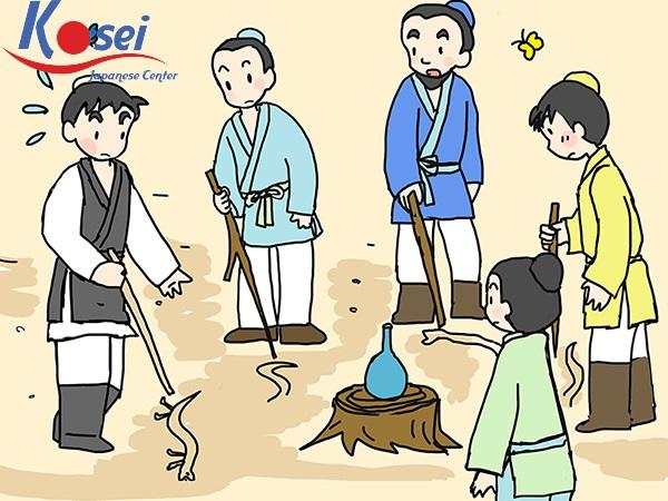 Học tiếng Nhật qua truyện cổ tích: ヘビの足
