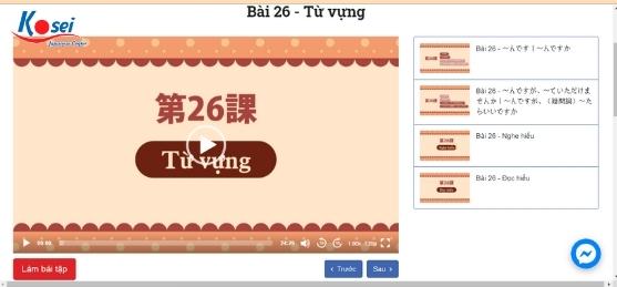 giai đoạn kiến thức khóa học tiếng Nhật n4 online