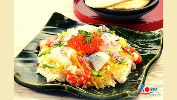 kiến thức về sushi chirashizushi