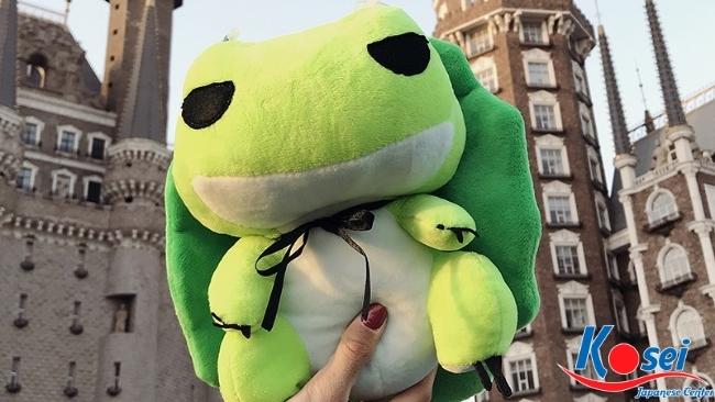 linh vật truyền thống nhật bản ếch kaeru