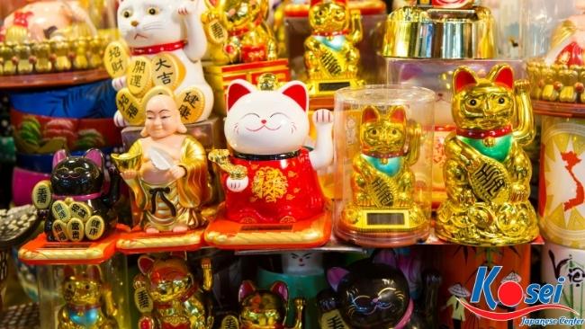 linh vật truyền thống nhật bản mèo maneki neko