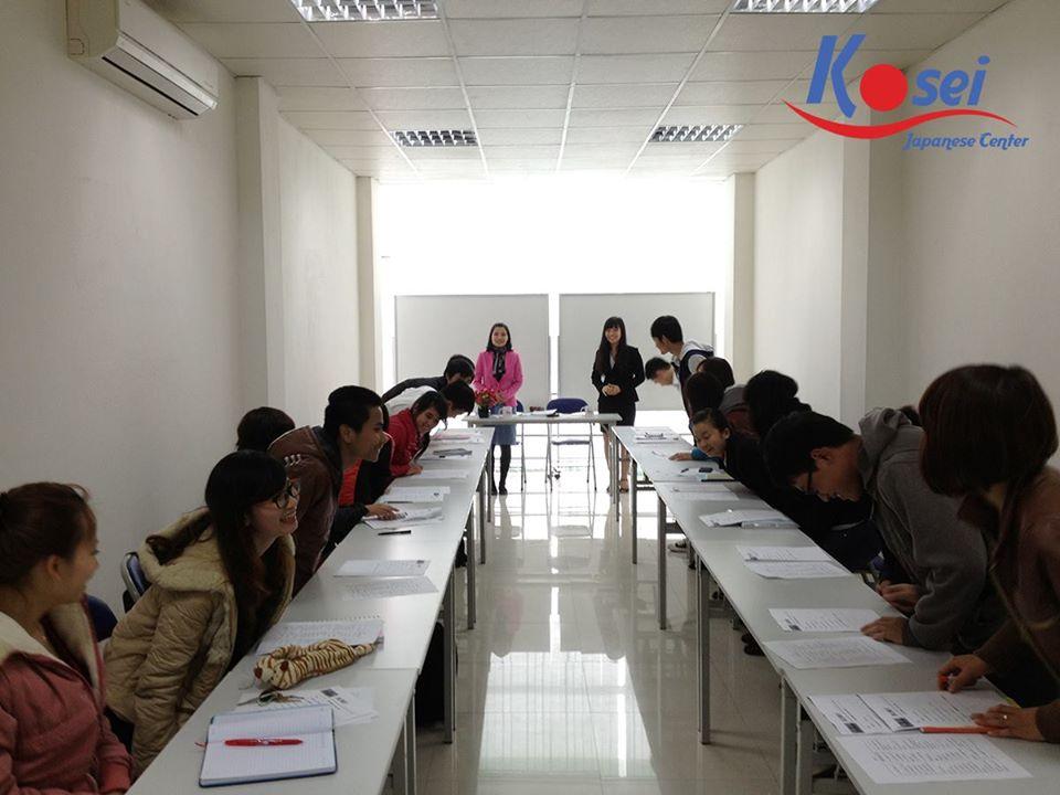 Lớp học tiếng Nhật tại trung tâm tiếng Nhật Kosei