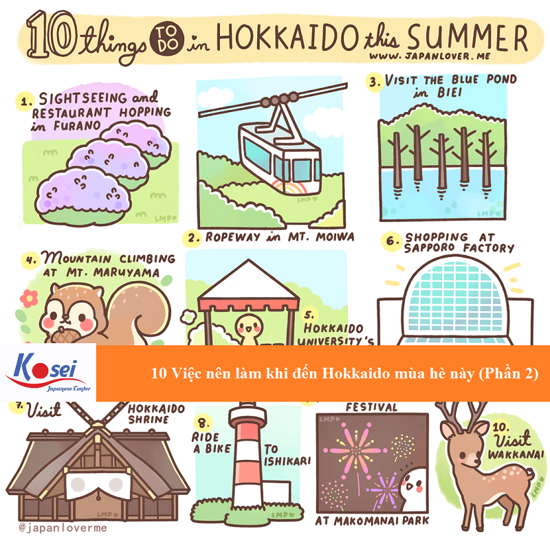 10 việc nên làm khi đến Hokkaido mùa hè này (Phần 2)