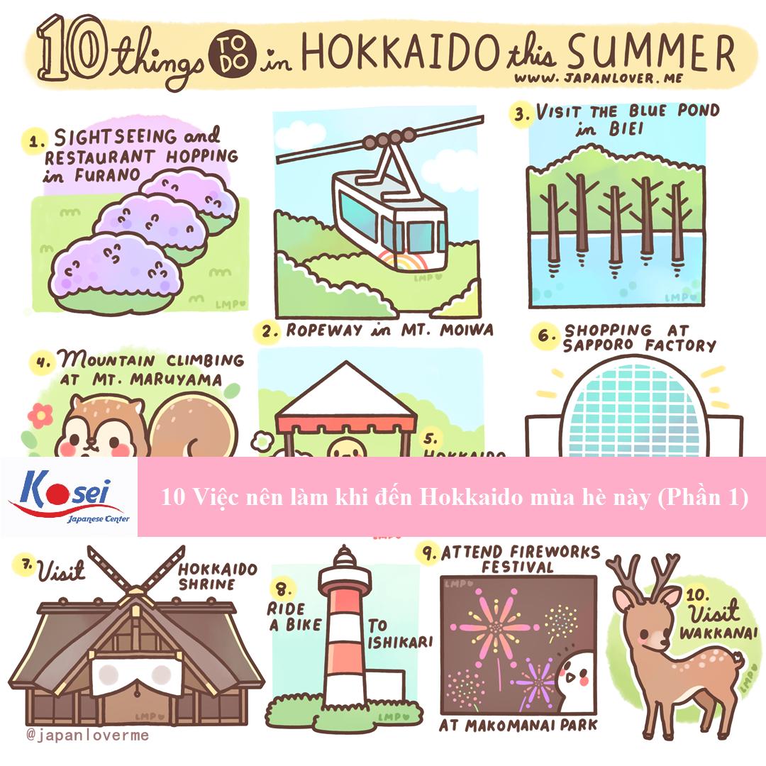 10 việc nên làm khi đến Hokkaido mùa hè này (Phần 1)