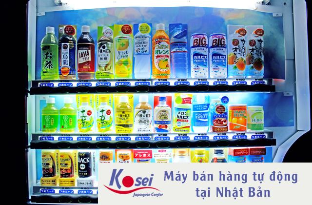 Máy bán hàng tự động tại Nhật Bản