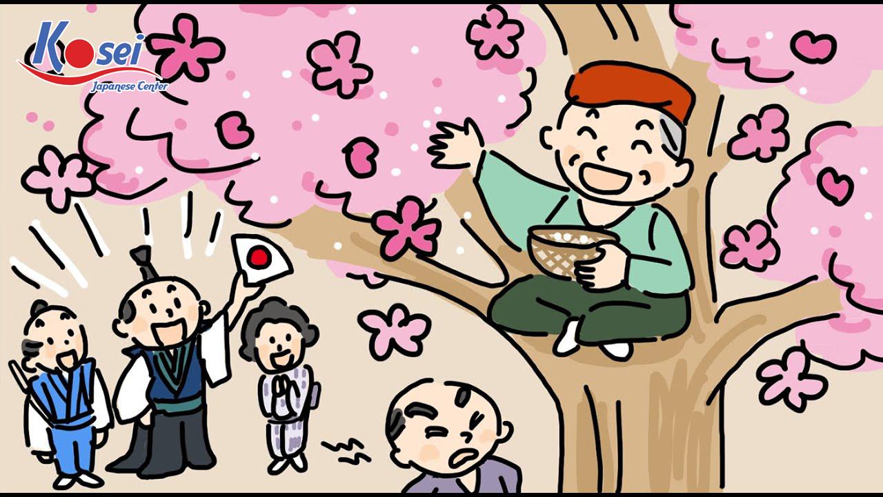 Học tiếng Nhật qua truyện cổ tích: Ông lão làm hoa nở (花咲かじいさん)