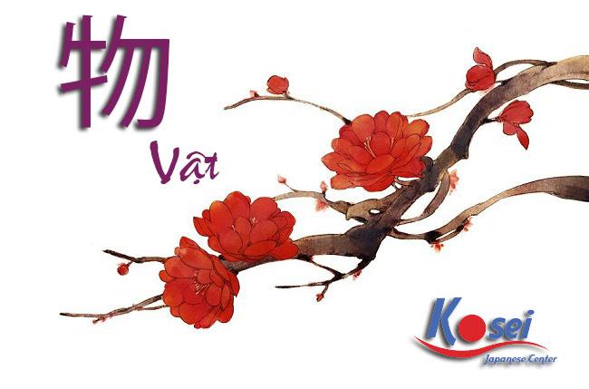 từ vựng kanji liên quan đến vật 物